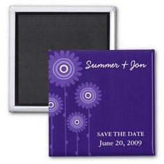 PURPLE PASSION SAVE THE DATE FRIDGE MAGNETS #purple