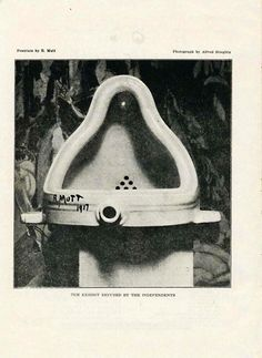 (One of my favorites) Marcel Duchamp, Fountain, 1917