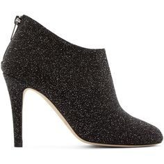 Jimmy Choo Black Pixelated Leather Mendez Ankle Boots (1,075 CAD) ❤ liked on Polyvore