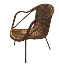 Mid Century Arthur Umanoff Rattan Chair