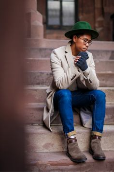 SHOP THE LOOK: SuperDrySweater // SuperDryJeans // CoachBoots // Reiss (Similar)Coat // Catarzi Hat