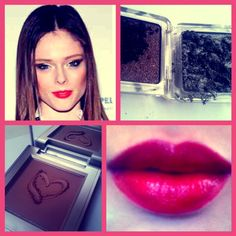 ... Coco Rocha's fierce eyes, super sculpted cheek and stunning red lips.