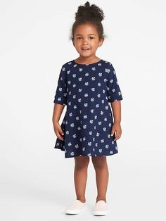 112acc8337 Old Navy Printed Swing Dress for Toddler Girls