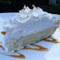 """Coconut Marshmallow Cream Meringue Pie 
