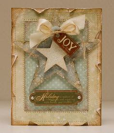 "Journal inspiration - Inked ""Joy"" Card...with stars."