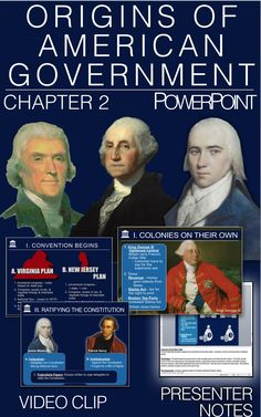 Origins of American Government PowerPoint w/Video clips & Presenter Notes Psychology Courses, Colleges For Psychology, Psychology Degree, Virginia Plan, Psychology Questions, Teaching Government, History Lesson Plans, Social Studies Classroom, College Fun