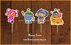 Team Umizoomi Cupcake Toppers by BlossomEvents on Etsy