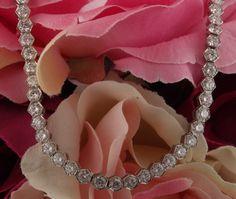 Hexagonal Diamond Necklace