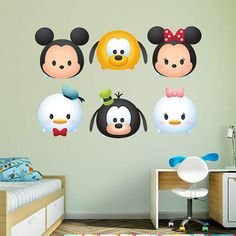 Disney Tsum Tsums just got cuter! New Tsum Tsum themed Fathead Wall Decals are now available and ready to add a little Disney  Magic to any room! The decals are available in single packs  featuring (19) of your favorite Disney Tsum Tsum characters Marie, Pooh, Stich, Alice, White Rabb