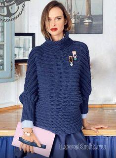 Спицами свитер с патентным узором фото к описанию