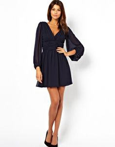 Image 4 of ASOS Skater Dress With Long Sleeve