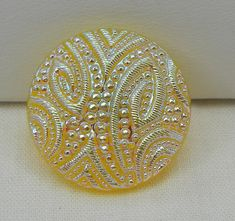 Embossed Czech Glass Button by MostlyButtons on Etsy, $5.00