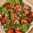 strawberry salad with monterey jack cheese
