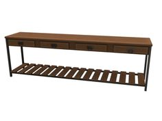 A long table to be placed up against the back of a sofa, in a hallway, etc. Part of my Easton Living Room. Found in TSR Category 'Sims 4 Miscellaneous Surfaces'
