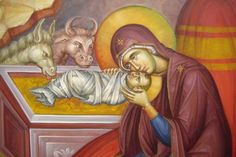 Theotokos with the newborn Christ.