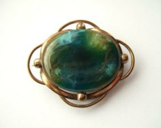 Antiques 2019 New Style Fab Signed Ruskin Pottery High Fired Cabochon Arts & Crafts Jewellery Pendant 17 Periods & Styles