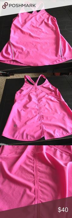 Lululemon Tank Size 4 Adorable pink tank has UPF 50. Made from swim fabric. Ventilation down the back. Perfect Condition! lululemon athletica Tops Tank Tops