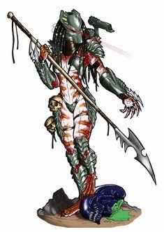 Spear Of Justice Masked by Ronniesolano on DeviantArt Alien Vs Predator, Predator Comics, Predator Cosplay, Predator Alien, Predator Costume, Female Xenomorph, Female Yautja, Aliens Colonial Marines, Alien Girl