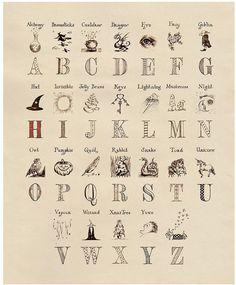 Harry Potter Magical Alphabet Print