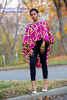 Vêtements africains pour les femmes Cape Shawl High Low Top, Ankara Top For Summer, African Cape, Ankara Cape Get this simplistic but classy high low cape poncho / cape shawl / cover-ups. It is a versatile shrug poncho that has a multi-purpose function or Latest African Fashion Dresses, African Print Dresses, African Print Fashion, African Dress, Nigerian Fashion, African Women Fashion, Modern African Fashion, African Print Skirt, Ankara Fashion
