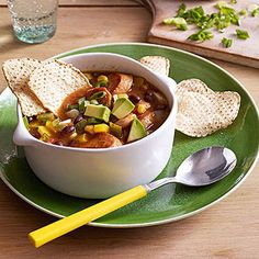 For an even spicier twist on tortilla soup, stir in jalapeno chicken sausage slices.