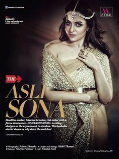 Gorgeous Sonakshi Sinha for Femina Wedding Times October 2015