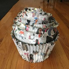 26 Creative Ways to Craft With Newspaper Sometimes you just need to make a paper mache cupcake sculpture. Fun idea for a bridal shower or a baby shower! And it's all made with newspaper! Diy Crafts Using Newspaper, Paper Mache Crafts For Kids, Recycle Newspaper, Paper Mache Projects, Easy Paper Crafts, Easy Crafts, Creative Crafts, Cupcake Crafts, Paper Cupcake
