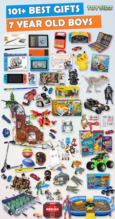 Gifts for 7 year old boys or girls for birthdays, Christmas, or any occasion. See the best toys for 7 year old boys. Tons of gift ideas for 7 year olds sorted by category for boys Gifts For 7 Year Old Boys 2019 – List of Best Toys Unique Gifts For Boys, Cool Toys For Boys, Gifts For Girls, Kids Gifts, Unique Toys, Boy Gifts, 7 Year Old Christmas Gifts, Christmas Toys, Christmas Presents For Boys
