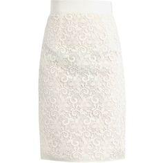 GIAMBATTISTA VALLI Lace pencil skirt