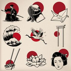 Japanese tradition style vectors premium image by rawpixel com japanese tattoo artist japanese tattoo artist japanese japanesetattoos maoritattoos polynesiantattoos samoantattoo tattoo Japanese Tattoo Women, Japanese Tattoo Symbols, Japanese Tattoo Art, Japanese Tattoo Designs, Japanese Sleeve Tattoos, Japan Tattoo Design, Japan Illustration, Tattoo Illustration, Yakuza Tattoo