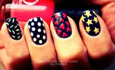 We love nail polish, nail art, and anything to do with nails! Get Nails, Love Nails, How To Do Nails, Pretty Nails, Hair And Nails, Color Nails, Pedicure, Nailart, Star Nails