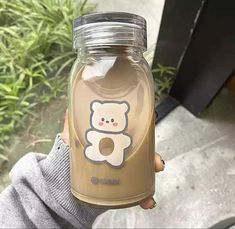 Cream Aesthetic, Brown Aesthetic, Aesthetic Food, Aesthetic Themes, Cute Water Bottles, Glass Bottles, Bebidas Do Starbucks, Cafe Food, Oui Oui
