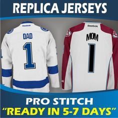 Premier Replica Jerseys - Pro-Stitch & Ready In 5-7 Days! NHL Reebok Hockey Jerseys. Best Gift Ideas! Cool Gift Ideas! Mom, Dad, Family.