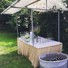 De bar: ready for action.  Voor de super bruiloft van @defamiliedejong afgelopen zaterdag #itflinkeboskje #wedding #thebarisopen @jojopai