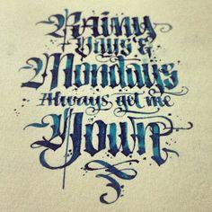Rainy days & Mondays by Patrick Cabral