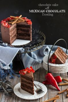 We loved this moist and rich Mexican chocolate layer cake- the frosting is spiked with cinnamon and spice!