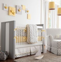 Yellow and grey nursery! LOVE For Maternity Inspiration, Shop  here >> http://www.seraphine.com/us  Baby Nursery Themes | Baby Nursery Ideas | Baby Nursery décor | Baby Nursery rooms | Pregnancy | Pregnant | Mum to be | Dad to be | Baby Nursery Colours | Baby Nursery Crib | Baby Nursery Bedding | Adorable Baby Nursery's | Modern Baby Nursery's | Cute Baby Nursery's | Stylish Baby Nursey's |