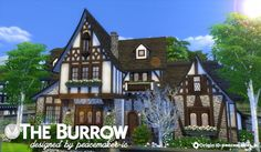 Simsational designs: The Burrow - A Tudor House for Windenburg • Sims 4 Downloads