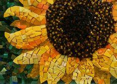 Sunflower mosaic Smalti