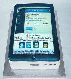 ipad cake made for Ryman's and given by Theo Paphitis to Patrick from www.valuemystuff.com #glutenfree #sbs Happy Birthday Patrick, Very Happy Birthday, Cake Pics, Cake Pictures, Ipad Cake, New Market, How To Make Cake, Allergies, Glutenfree