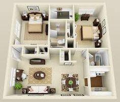 Картинки по запросу 3d 2 Bedroom Apartment