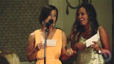Bridesmaids rap wedding toasts, one Fresh Prince of Bel-Air style