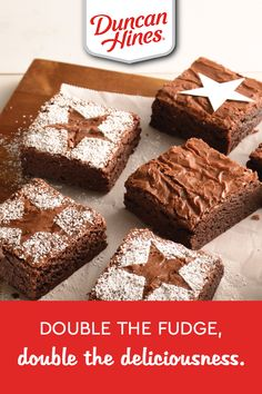There's no better way to bring the family together than with these easy-to-make Double Fudge Brownies. Yummy Treats, Delicious Desserts, Sweet Treats, Yummy Food, Holiday Baking, Christmas Baking, Holiday Treats, Holiday Recipes, Baking Recipes
