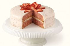 Fresh Strawberry Cake with Strawberry Cream Cheese Frosting...This Is My Favorite!!!