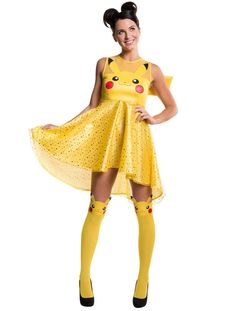 pokemon pikachu adult costume dress