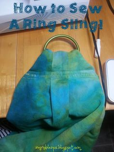 Step by step instructions with lots of pictures how to sew your own ring sling baby carrier.  Leap! ...and the Net Will Appear: Wear Your Baby Wednesday - Sew Your Own Ring Sling!!
