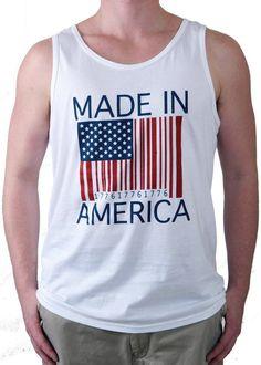 Made in America American Flag Tank Top
