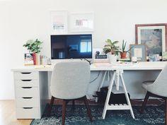 White Ikea desk hack n San Diego, California