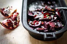 Roasted Beets w/ Balsamic Glaze, Pomegranate and Pistachio- vegan and ...