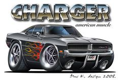 Shop Dodge Charger Black Car Mouse Pad created by maddmaxart. Muscle Truck, Muscle Cars, Car Drawings, Cartoon Drawings, Cartoon Art, Cartoon Illustrations, Automobile, Truck Art, Car Illustration